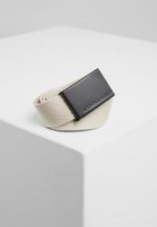 Pánsky opasok Urban Classics Canvas Belts béžová/čierna