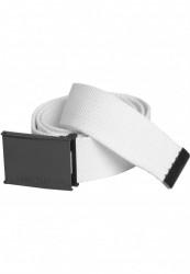 Pánsky opasok Urban Classics Canvas Belts biela