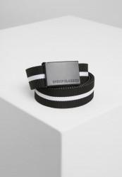 Pánsky opasok Urban Classics Canvas Belts čierno-biely