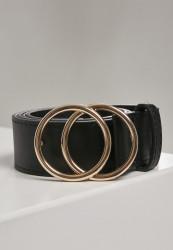 Pánsky opasok Urban Classics Ring Buckle Belt black