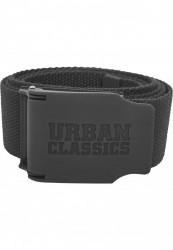 Pánsky opasok Urban Classics Woven Belt Rubbered Touch UC čierna