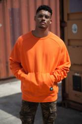 Pánsky Oranžový crewneck Sixth June Oversize Raglan Hoodie Farba: Oranžová,