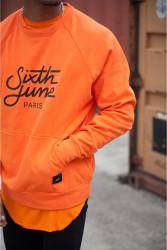 Pánsky oranžový crewneck Sixth June Raglan Sweatshirt Farba: Oranžová, #2
