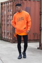 Pánsky oranžový crewneck Sixth June Raglan Sweatshirt