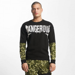 Pánsky pulover Dangerous DNGRS / Pullover Methal in black Size: 3XL