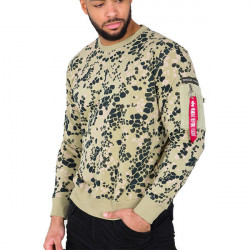 Pánsky sveter Alpha Industries Special Forces Sweater Green Size: 2XL