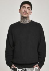 Pánsky sveter URBAN CLASSICS Cardigan Stitch Sweater black