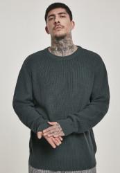 Pánsky sveter URBAN CLASSICS Cardigan Stitch Sweater bottlegreen