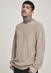 Pánsky sveter URBAN CLASSICS Cardigan Stitch Sweater darksand