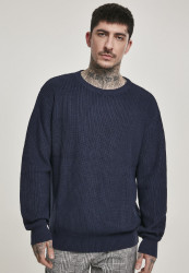Pánsky sveter URBAN CLASSICS Cardigan Stitch Sweater midnightnavy