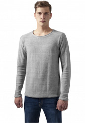 Pánsky sveter URBAN CLASSICS Fine Knit Melange Cotton Sweater grey melange
