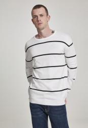 Pánsky sveter URBAN CLASSICS Line Striped Sweater black/white