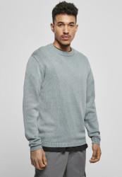 Pánsky sveter Urban Classics Washed Sweater dustyblue