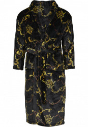 Pánsky župan URBAN CLASSICS Bathrobe Luxury Print black