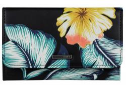 Peňaženka Roxy Juno Printed anthracite tropical love