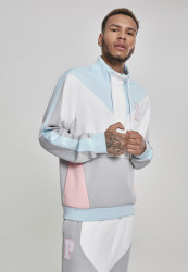 PINK DOLPHIN Bold Track Halfzip Farba: wht/cool grey/pink/lightblue,