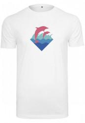 Pink Dolphin Logo Tee Farba: white,