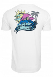 PINK DOLPHIN Roll Tide Tee Farba: white, #9