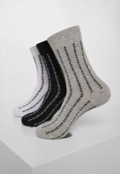 Ponožky MR.TEE Fuck You Socks 3-Pack Farba: black/grey/white,