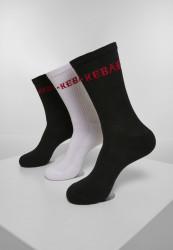 Ponožky MR.TEE Kebab Socks 3-Pack Farba: black/white,