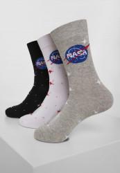 Ponožky MR.TEE NASA Insignia Socks 3-Pack Farba: black/grey/white,