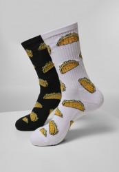 Ponožky MR.TEE Taco Socks 2-Pack Farba: white/black,