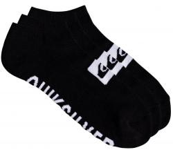 Ponožky Quiksilver 3 Ankle Pack black 40-45