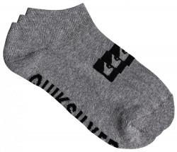 Ponožky Quiksilver 3 Ankle Pack light grey heather 40-45