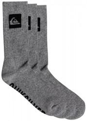 Ponožky Quiksilver 3 Crew Pack light grey heather 40-45