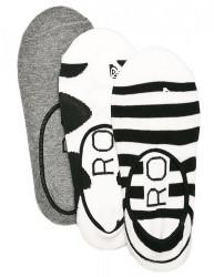 Ponožky Roxy Liner 3P anthracite univerzálna veľkosť
