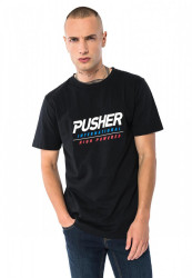 PUSHER High Powered Tee Farba: black,