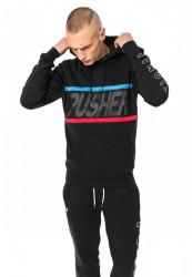 PUSHER Mesh Hoody Farba: black,