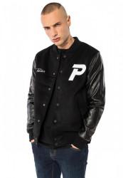PUSHER Pánska bunda Varsity Jacket Farba: black,