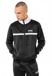 PUSHER Pánska mikina na zips Athletics Track Jacket Farba: white,