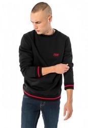 PUSHER Pánska mikina na zips PSHR Sweater Farba: black,