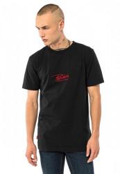 PUSHER Pánske tričko Attack Small Logo Tee Farba: black,