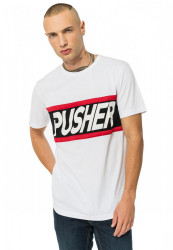 PUSHER Pánske tričko Power Tee Farba: white,