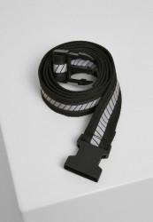 Reflexný opasok Urban Classics Reflective Belt black/black/silver Flexfit: L/XL