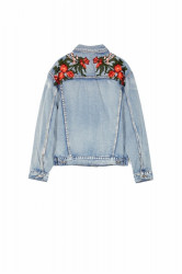 Rifľová bunda Sixth June Denim Roses Patches Jacket Farba: Modrá, #5