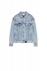 Rifľová bunda Sixth June Denim Roses Patches Jacket Farba: Modrá, #6