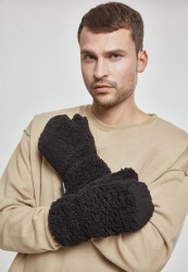 Rukavice Urban Classics Sherpa Gloves čierne Flexfit: L/XL