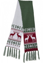 Šál Urban Classics Christmas Scarf green/red