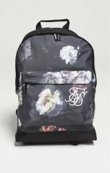SIK SILK Čierny kvetovaný batoh  SikSilk Floral Pouch Backpack 15 L