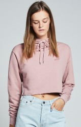 SIK SILK Crop Top Mikina SikSilk Cropped Raw Edge Pale