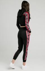 SIK SILK Dámska Crop Top mikina SikSilk Rose Panel Poly Cropped Farba: Čierna, #6