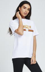 SIK SILK Dámske biele tričko s krátkym rukávom SikSilk Icon