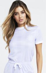 SIK SILK Dámske crop top tričko SikSilk S/S Shadow Stripe T-Shirt - Lilac