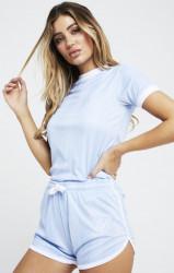 SIK SILK Dámske tričko SikSilk S/S Shadow Stripe Farba: Modrá,