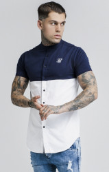 SIK SILK Košeľa SikSilk S/S Cut and Sew Grandad