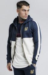 SIK SILK Mikina s kapucňou SikSilk Cut and Sew Taped Zip Through Farba: Béžová,Modrá,Navy,